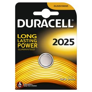 Батарейки DURACELL  CR2025  (10/100/9600) Блистер  1 шт