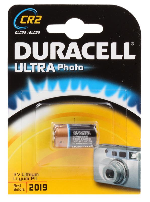 Батарейки DURACELL (CR2) CR2 ULTRA 1 шт батарейки duracell mn21 b1 security 12v alcaline