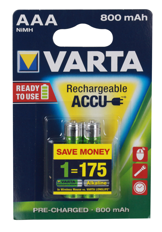 Аккумулятор VARTA Ready2Use AAA 800 мА-ч бл 2 56703101402 цены