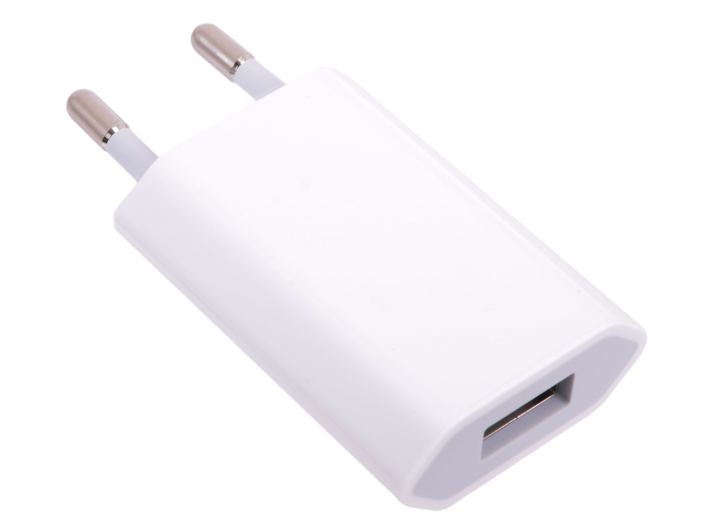 Зарядное устройство для iPod, iPhone Apple USB Power Adapter (MD813ZM/A ) позволяет заряжать батарею от сети 220В USB2.0 / U= 5.0 В new 2a wall charger adapter eu plug socket power outlet panel dual usb port