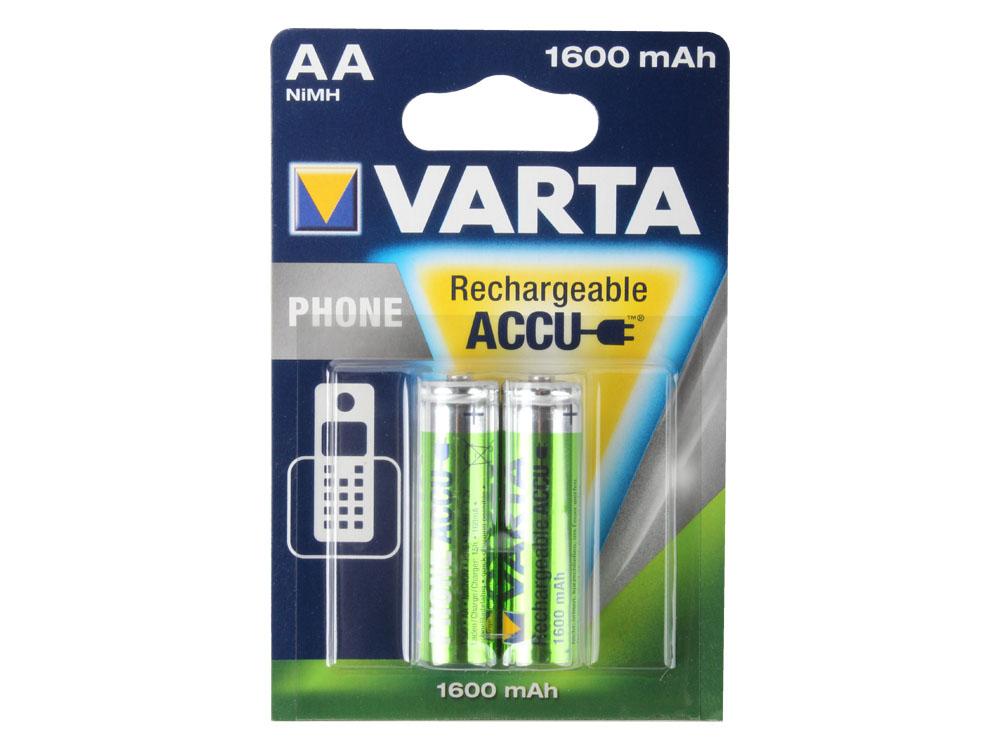 Аккумуляторы VARTA Phone Power AA 1600мАч бл.2 58399201402 аккумуляторы varta phone power aaa 800мач блистер 2шт