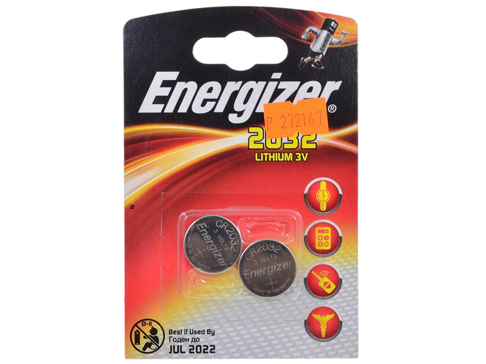 Батарейки Energizer 637986, Classic, CR2032/DL2032 (2032), lithium, FSB 2 шт.