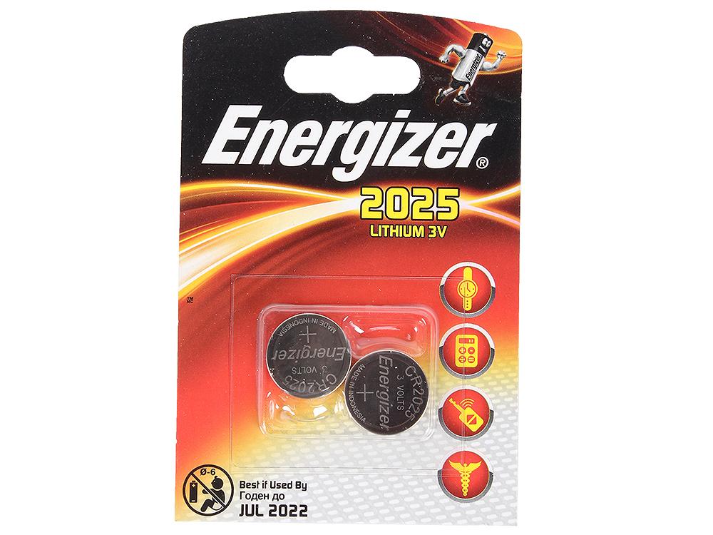 Батарейки Energizer 638708, Classic, CR2025/DL2025 (2025), lithium, FSB 2 шт.