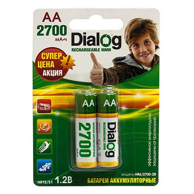 Аккумуляторы Dialog HR6/2700-2B - NiMH АА 2700mAh 2шт в блистере makita 18в 2 5ач nimh 1834 193102 0