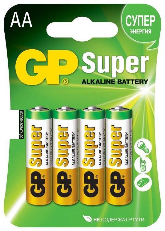 где купить Батарея GP 15A 4шт. Super Alkaline (AA) по лучшей цене