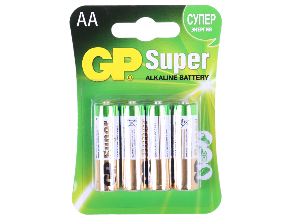 Батарея GP 15A 4шт. Super Alkaline (AA) GP15A-2CR4