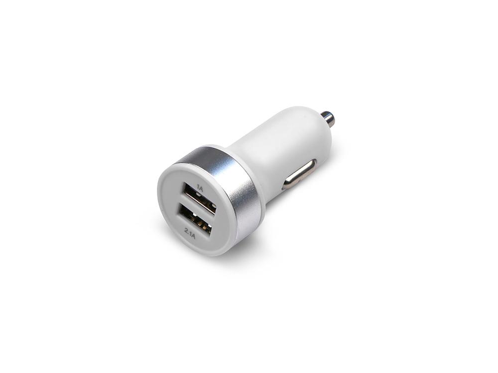 Универсальное зарядное устройство Jet.A от прикуривателя 12В-24В UC-S16 (2 USB-порта, 2.1А, кабель micro USB в комплекте) Цвет - белый автомобильное зарядное устройство jet a uc s16 2х usb 2 1a белый