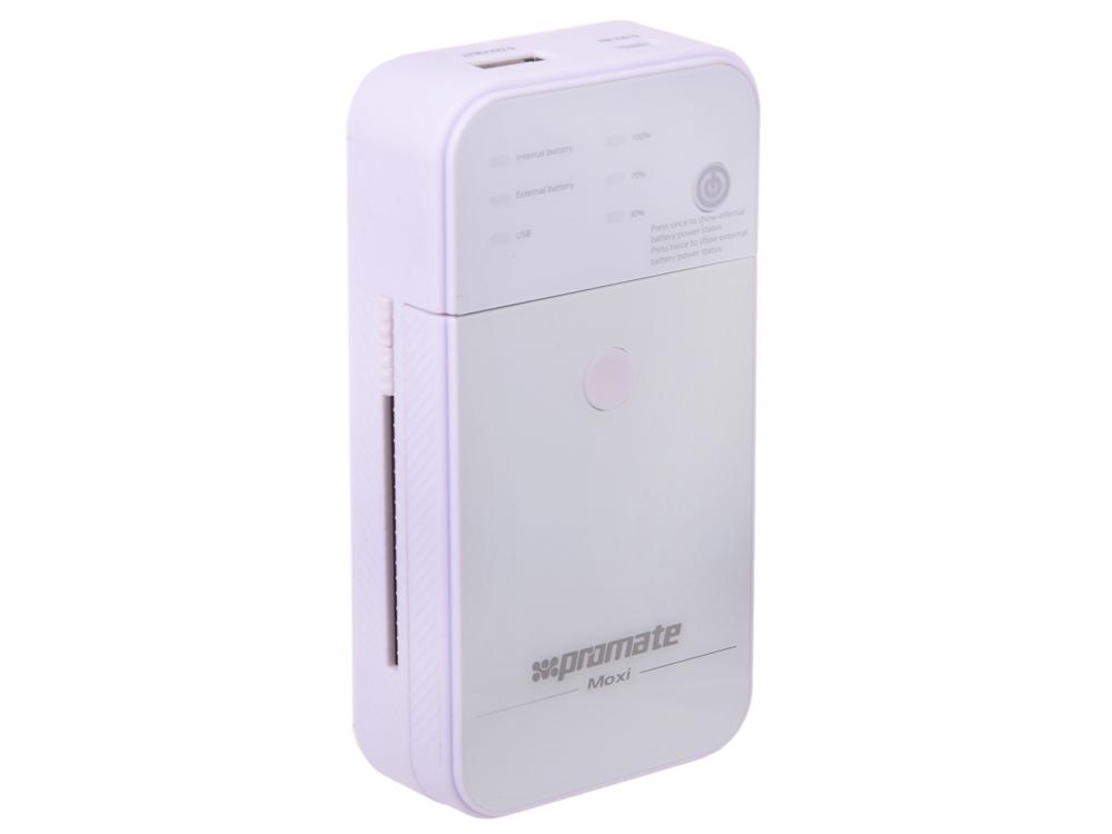Внешний аккумулятор Promate Moxi (5000 мАч) белый цена