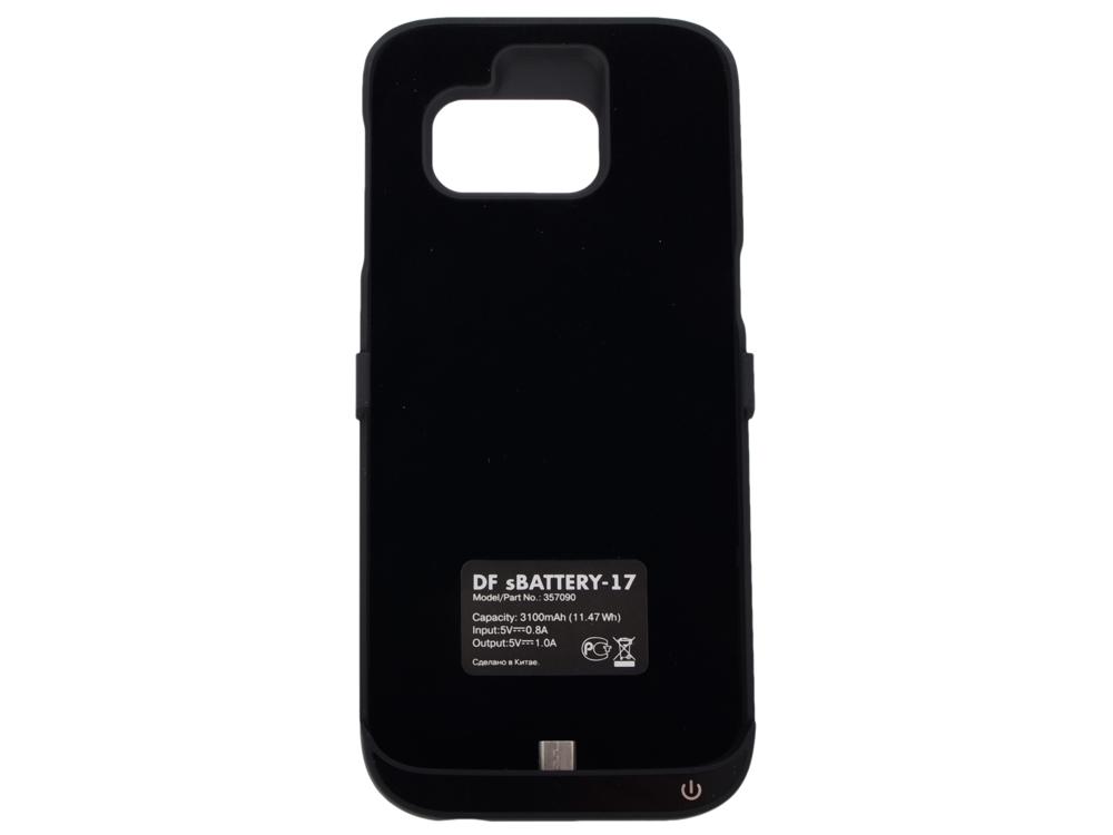 Аккумулятор-чехол для Samsung Galaxy S7 DF SBattery-17 (black) samsung ep tg930 backpack чехол аккумулятор для galaxy s7 black