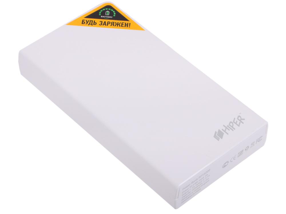 Внешний аккумулятор Hiper RP15000 Белый, 15000mAh, 2xUSB 2.1A, Li-Ion, индикатор заряда мобильный аккумулятор asus zenpower abtu011 li ion 10050mah 2 4a золотистый 2xusb
