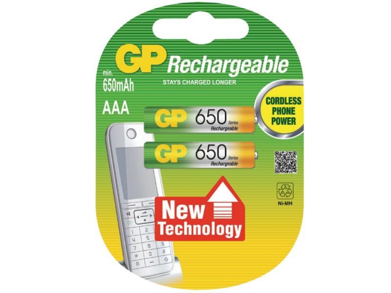Аккумулятор 650 mAh GP 65AAAHC-2CPCR2 AAA 2 шт