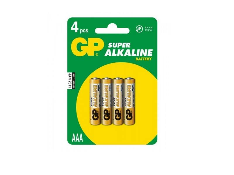 Батарейки GP Super Alkaline 24ACR4-UE4 AAA 4 шт батарейки eveready super heavy duty aaa 4 шт