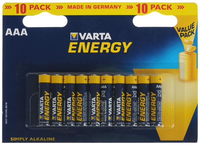 Батарейки Varta Energy AAA 10 шт батарейки varta energy c lr14 2 шт
