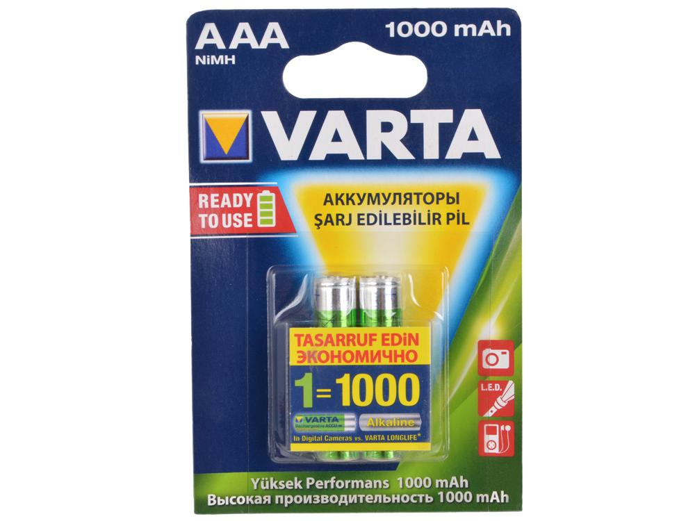 Аккумулятор 1000 мАч Varta Professiona AAA 2 шт varta аккумулятор agm ytx9 bs