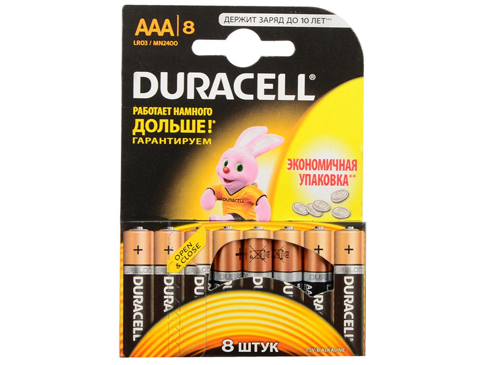 Батарейки Duracell LR03-8BL AAA 8 шт aaa