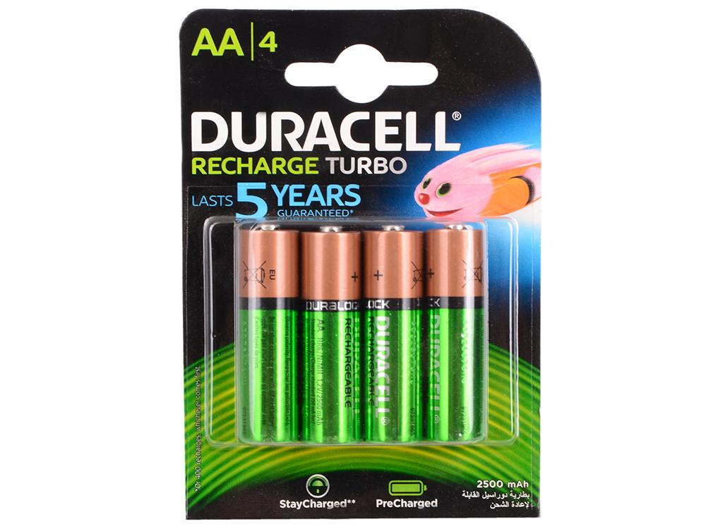Аккумулятор 2500 mAh Duracell Turbo HR6-4BL AA 4 шт аккумулятор energizer aa hr6 2300mah 4шт