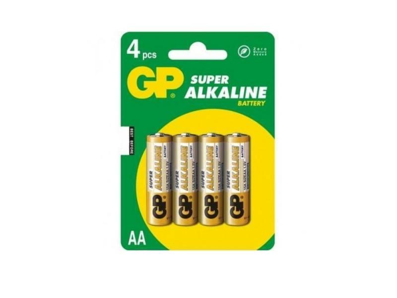Батарейка GP Super 15A(CR4)-UE4/BC4 AA 4 шт батарейка gp ultra 15au cr4 aa lr6 4 шт в блистере gp15au cr4