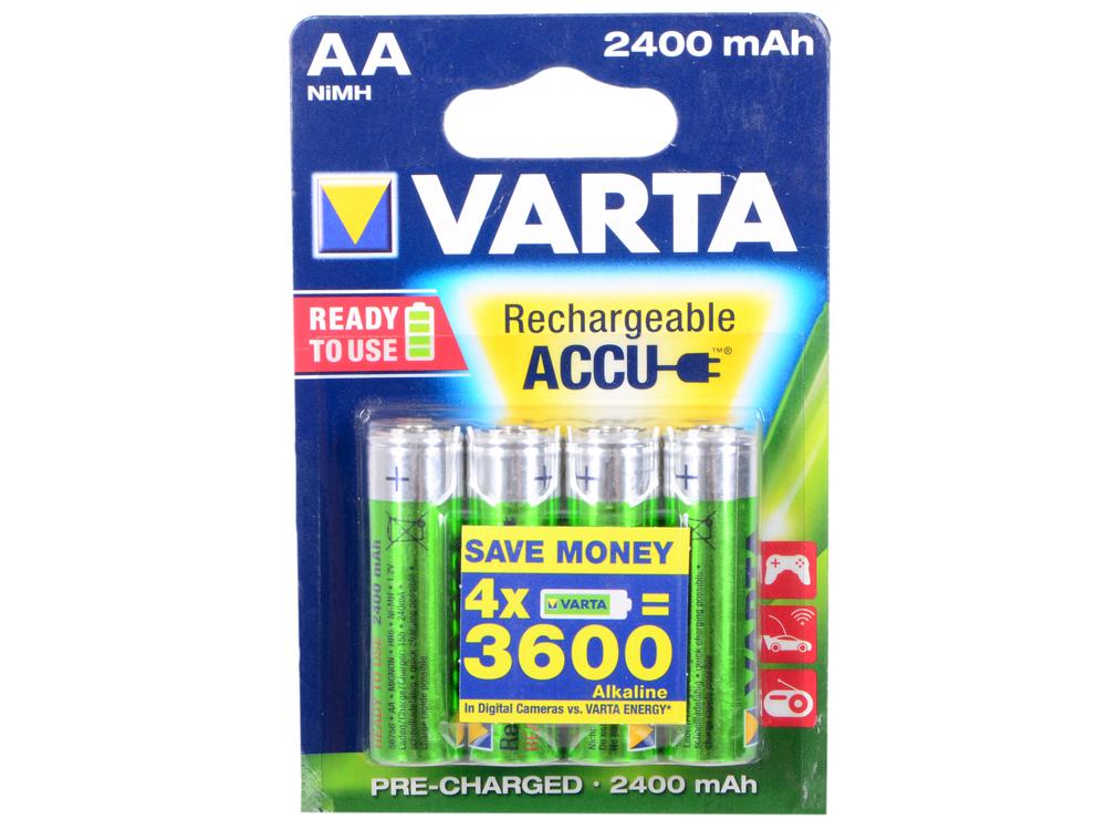 Аккумуляторы 2400 mAh Varta R2U AA 4 шт аккумуляторы varta r2u 2 шт 2600 mah aa