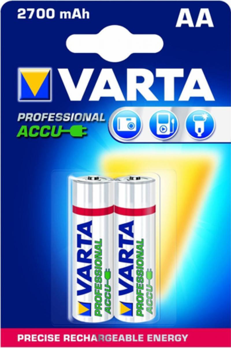 все цены на Аккумуляторы 2700 mAh Varta Professional AA 2 шт онлайн
