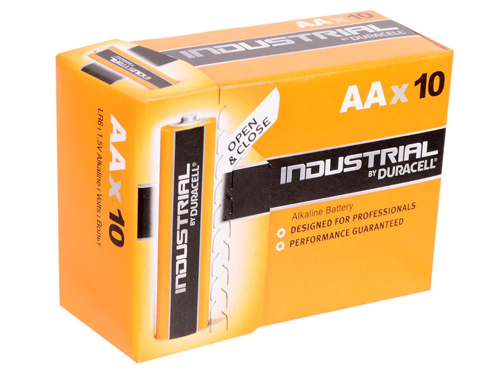 Батарейки Duracell Industrial LR6 AA 10 шт батарейки duracell basic lr6 4bl aa 4 шт