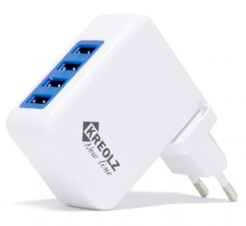 Сетевое зарядное устройство Kreolz TJ-131 4A 4xUSB белый зарядное устройство aukey 4xusb cc t9