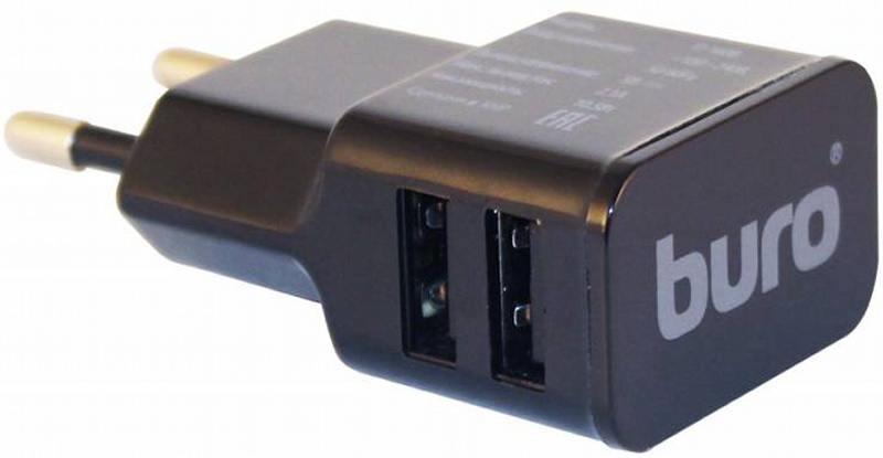 Сетевое зарядное устройство Buro TJ-160B 1,1А 2х USB черный