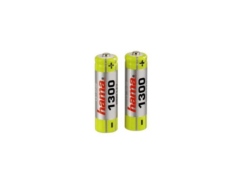 Аккумуляторная батарея Hama H-46569 Ni-МН AA 1300мАч 1.2В 2шт аккумуляторы hr06 aa duracell ni mh 1300 mah 2шт