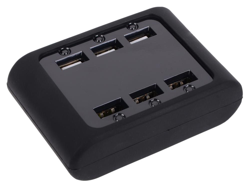 Сетевое зарядное устройство IconBIT FTB SIX 5А USB черный 83521