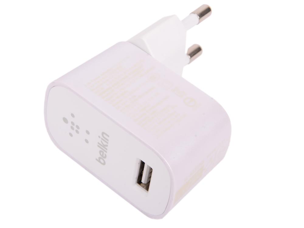 Сетевое зарядное устройство Belkin F8M967btWHT 2.4A белый belkin belkin 302617