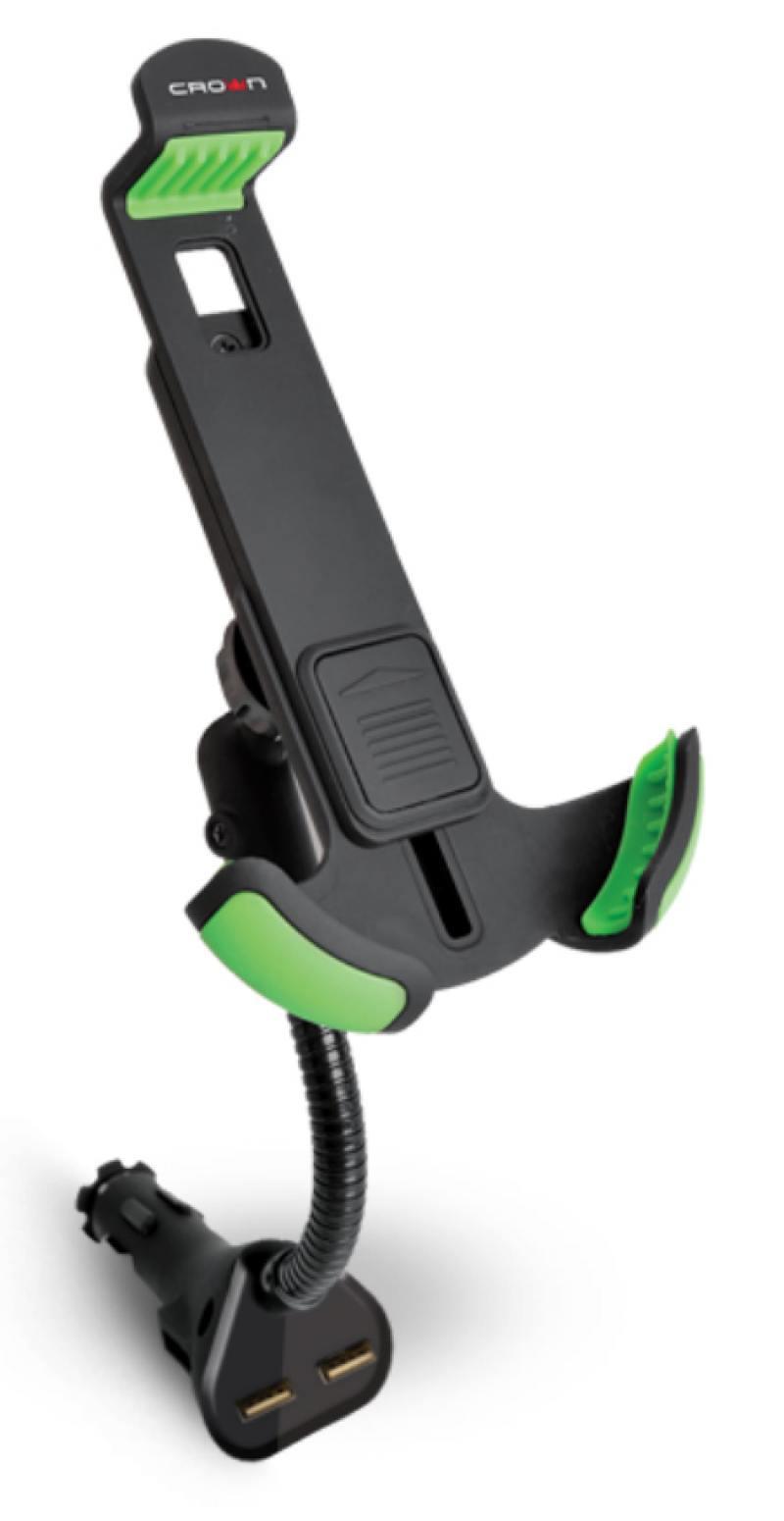 Автомобильное зарядное устройство Crown CMDC-IP5-032 1A 2х USB черный
