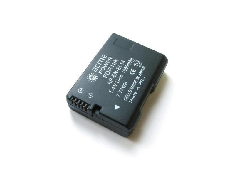 Аккумулятор AcmePower AP-EN-EL14 для фотокамеры NIKON аккумулятор acmepower ap en el12