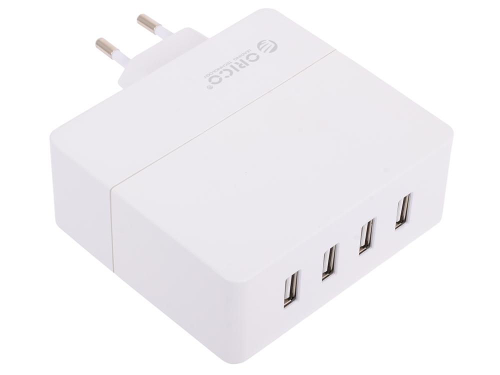 Зарядное устройство Orico DCA-4U (белый) 5V2A*2/5V1A*2