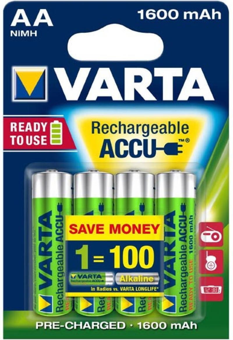 Аккумуляторы 1600 mAh Varta R2U AA 4 шт аккумуляторы varta r2u 2 шт 2600 mah aa