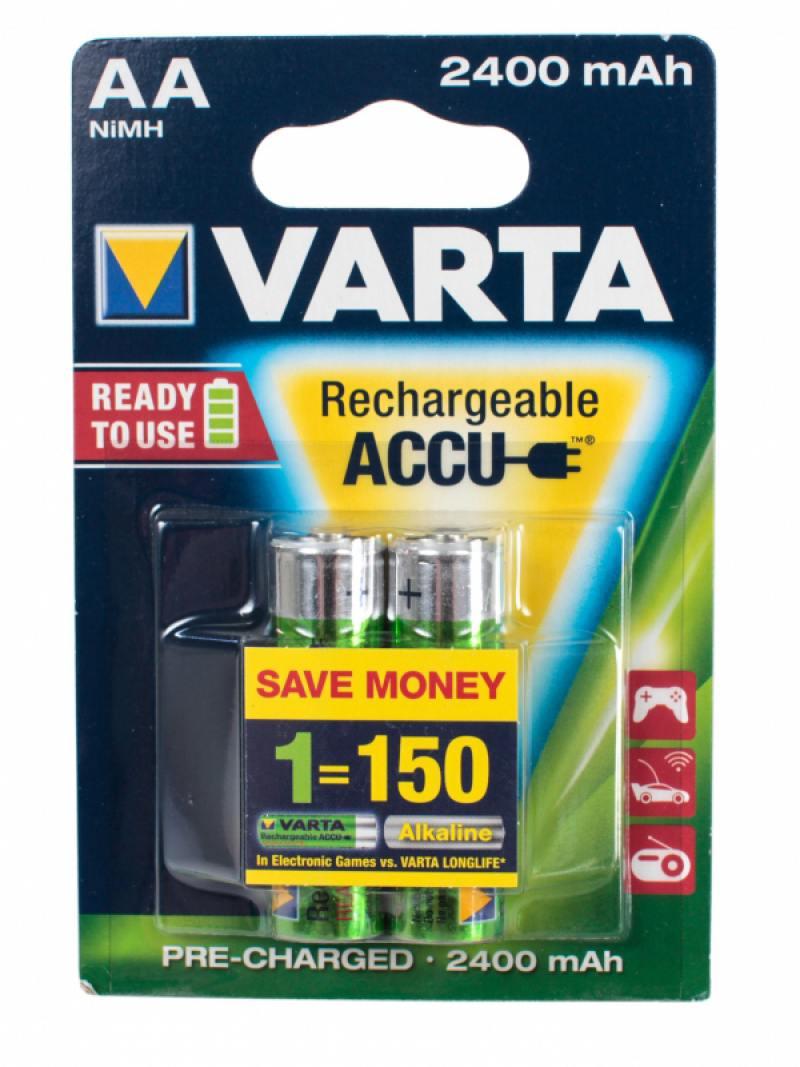 Аккумуляторы 2400 mAh Varta R2U AA 2 шт аккумуляторы varta aaa r2u 1000мач блистер 2шт