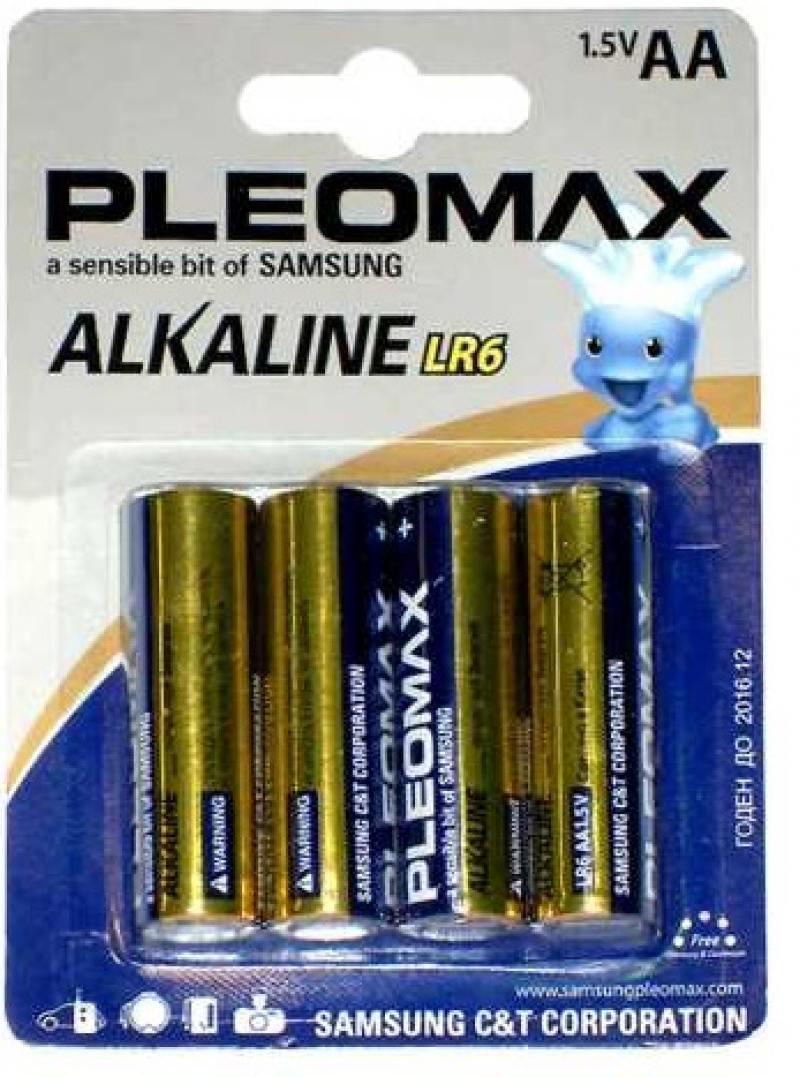 Батарейки Samsung Pleomax LR6-4BL AA 4 шт батарейки samsung pleomax lr6 10 шт aa