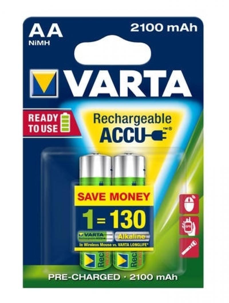 Аккумуляторы 2100 mAh Varta R2U AA 2 шт цена и фото