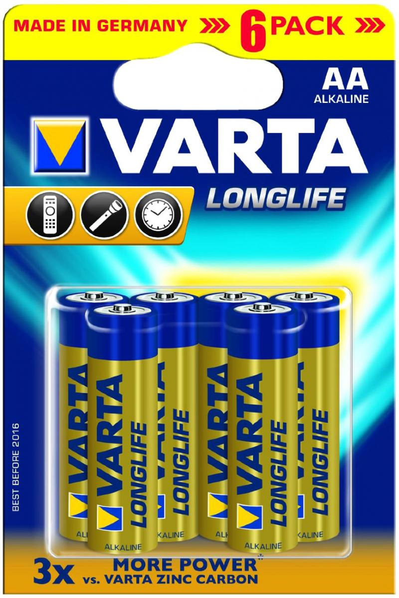 Батарейки AA Varta Long Life 6 шт