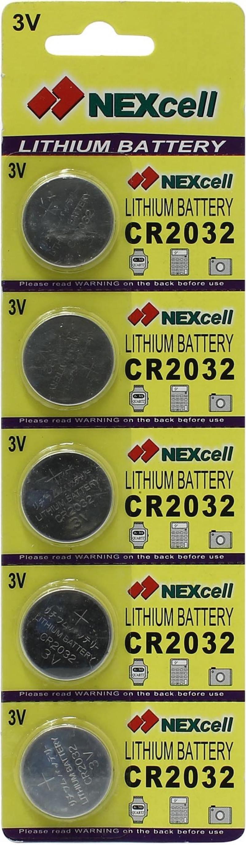 Батарейки 210 mAh Nexcell CR2032 5 шт