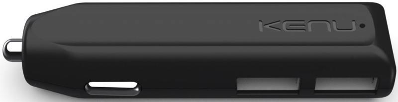 Автомобильное зарядное устройство Kenu Dual Trip 2.4A 2xUSB черный DT1-KK-NA