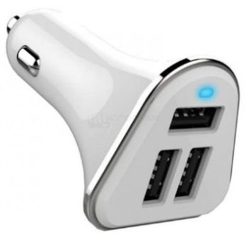 Автомобильное зарядное устройство Wiiix UCC-3-1W 2A+2.4A+2.4A 3xUSB белый