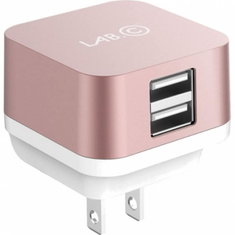Сетевое зарядное устройство LAB.C LABC-593-RG_EU розовое золото 2.4А 2 х USB —