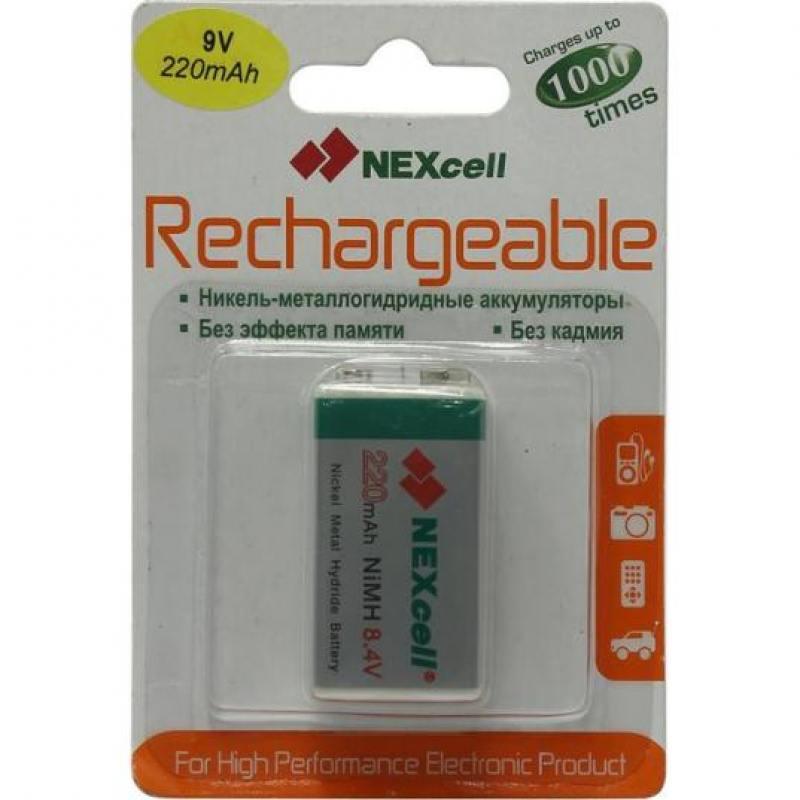 Батарейки 220 mAh Nexcell 9V 1 шт