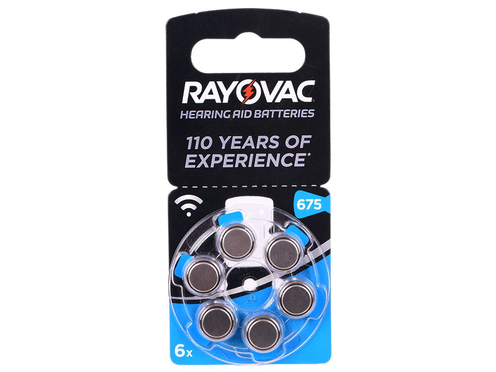 Батарейки Varta Rayovac Acoustic Type 675 PR44 6 шт