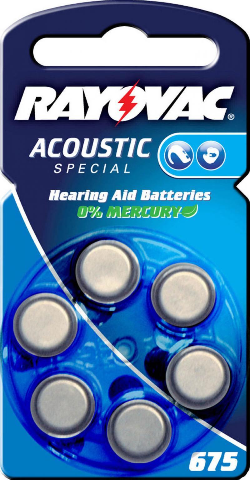 Батарейки Varta Rayovac Acoustic Type 675 PR44 6 шт varta varta rayovac hearing aid ha675