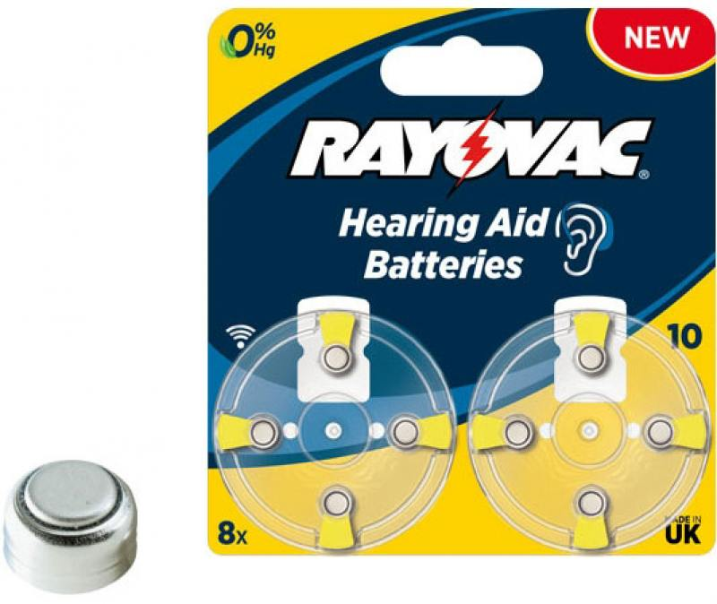 Батарейки Varta Rayovac acoustic Type 10 8 шт Hearing Aid PR70 PR-48 cic digital 2 channels 4 bands hearing aid mini tuneable sound amplifier in the ear portable invisible hearing aids a10 battery