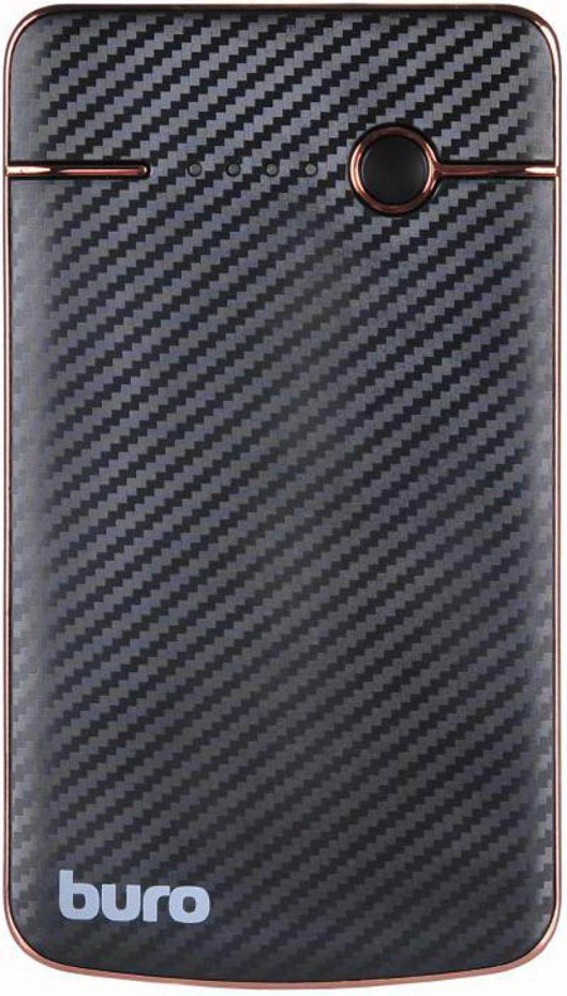 Портативное зарядное устройство Buro RA-4000 4000мАч черный/красный
