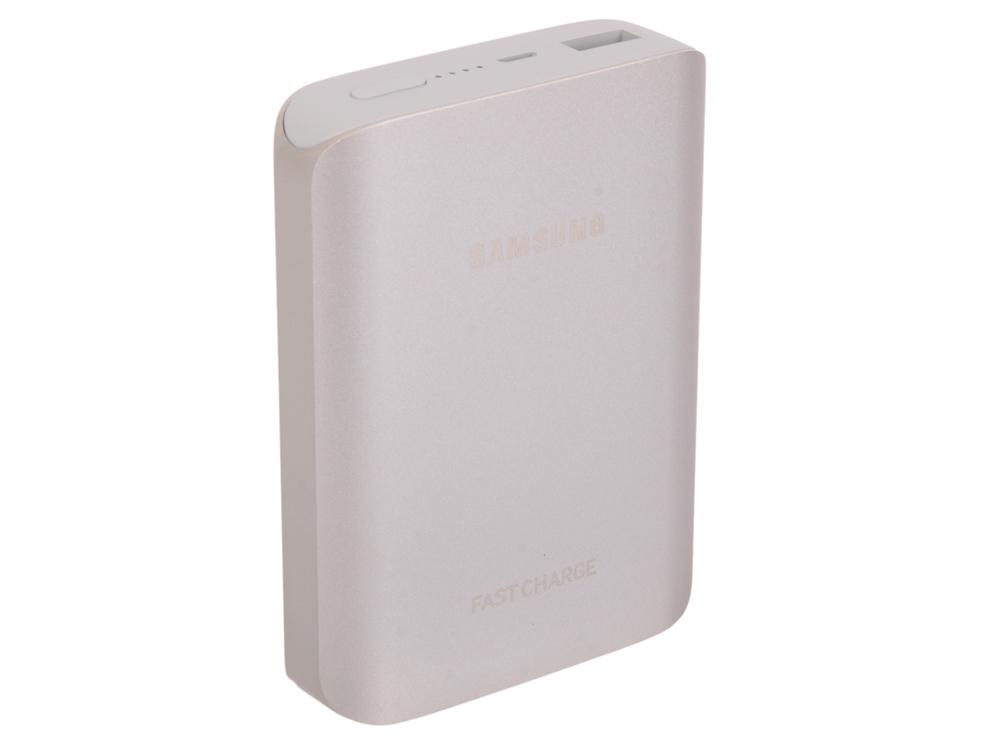 Портативное зарядное устройство Samsung EB-PG935BSRGRU 10200mAh 2A  универсальный серебристый 1xUSB портативное зарядное устройство samsung eb pn930czrgru 10200mah универсальный 1xusb розовый