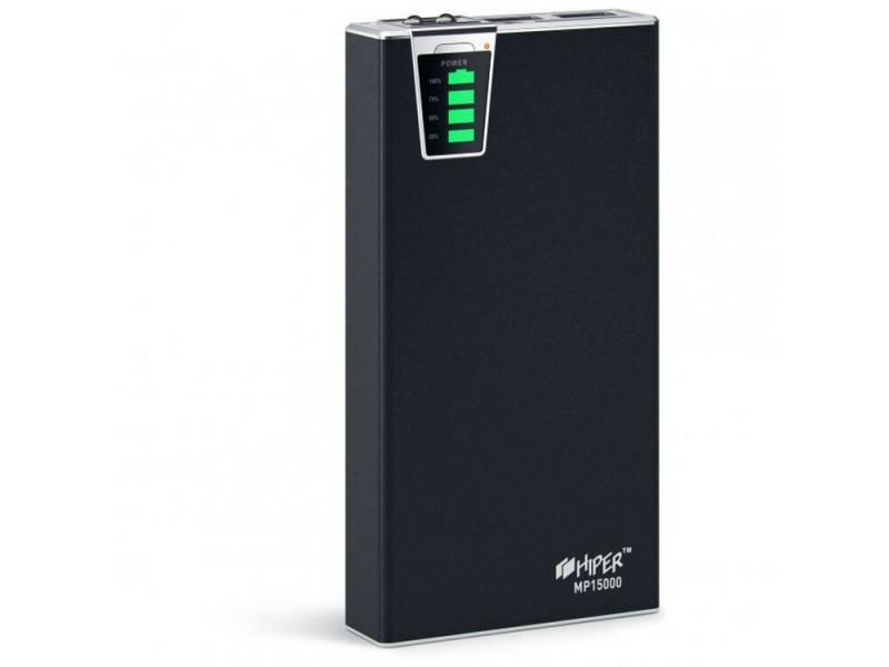 Портативное зарядное устройство HIPER Power Bank MP15000 15000мАч 2x USB 1/2.1А картридер SD фонарик портативное зарядное устройство hiper power bank mp10000 10000мач 2x usb 1 2 1а картридер sd фонарик черный