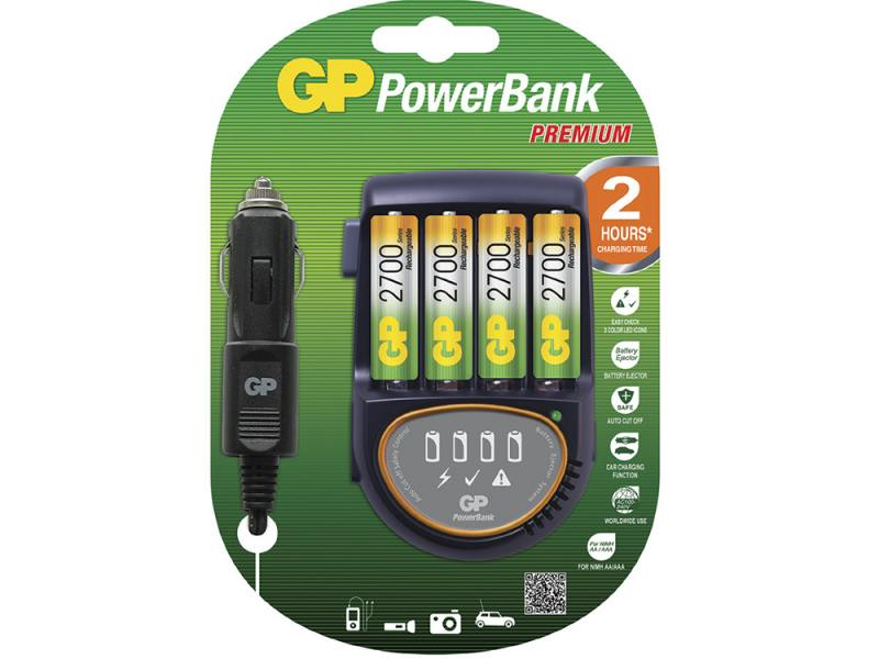 Зарядное устройство + аккумуляторы 2700 mAh GP PB50GS270CA-2CR4 AA 4 шт зарядное устройство gp u411270wa12fradapt 2cr4 10 аккумуляторы aa 2600mah 4шт