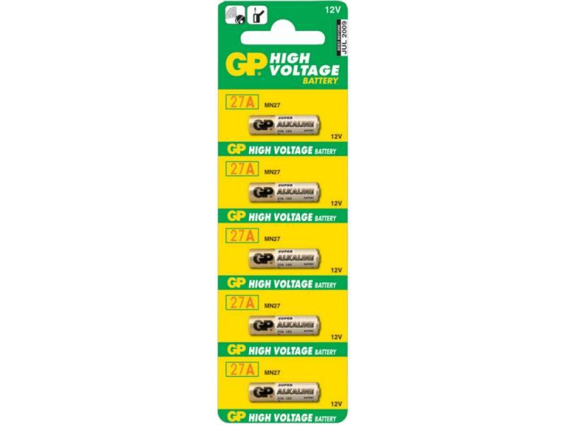 Батарейки GP 27A-BC5 A27 5 шт